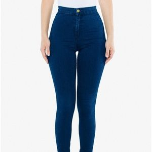 American Apparel High-Waisted Skinny Jeans